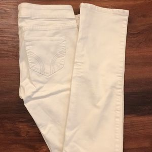 White Hollister Skinny Jeans